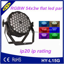 ip20 lamp body indoor rgbw color mixing slim led par 64