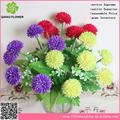 Carcasa facinating crisantemo perla con 6 cabezales, arreglo de flores artificiales