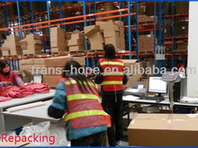 Top grade professional free warehouse and consolidation service