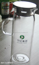 Wonderful homedeco!Hot/cold water bottle/glass tea pitcher with infuser and lid