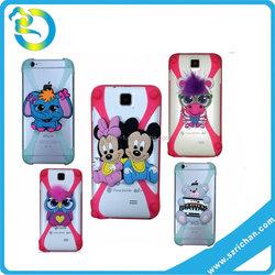 Wholesale mulit colors 3D shape universal cellphone silicone bumper case