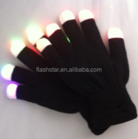 Fashion colorful and luminous LED flash festival gloves