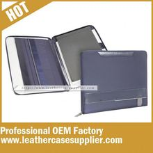 China Leather Supplier zippered portfolios