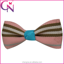 Wholesale Striped Bow Tie Hair Bow, 2 inch Small Delicate Ribbon Hair Bow with Mini Alligator Clip