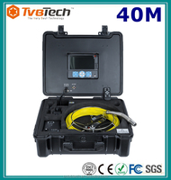 "Borehole Sewer Pipe Inspection Camera System Water Pipe Well Test Monitoring System With 7"" LCD Monitor DVR 40M Fiberglass Cable"
