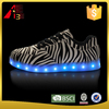 led light up low top causal shoes men