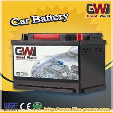 DIN75MF 12V 75ah MF lead acid maintenance free car battery