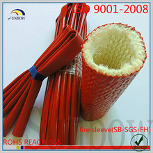 with ISO 9001:2008 standard flexible flame retardant insulation red heat resistant fire sleeve for steels