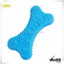 HOT pet toys Non-toxic soft rubber bone shaped chew toys /CUSTOM soft non-toxic bone puppy dog vinyl toy for chrismats gift