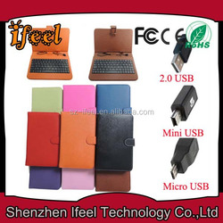 New Arrival!! 7 Inch Tablet PC Keyboard Leather Case/ Cover,with Stylus Pen,Mini/Micro USB Connector