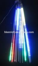 colorful outdoor christmas smd2835 led meteor shower lights/LED Raindrop light 30cm,50cm ,80cm