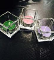 good quality cheap price glass tea light candle in glass candle holder/candle holder tea lights insert