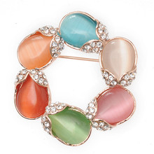Top selling brooches jewelry custom made colorful brooch pin fashion rhinestone channel brooch