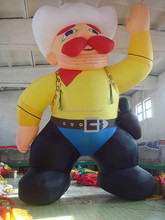 giant inflatable cowboy, inflatable cartoon characters