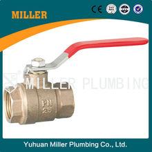 ML-1501Yuhuan Miller Plumbing 1/2 inch Marine Bronze Ball Valve, 2-Port Diverting,Two Piece, Inline, Lockable Lever, NPT Female