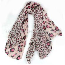 trendy spring ladies leopard printed polyester scarf SC01908