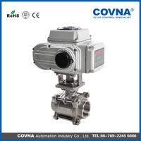 12v electric water valve electric actuator ball valve for water oil gas