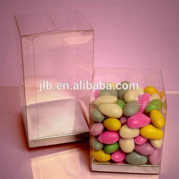 bo te en pvc transparent pvc bo te en plastique pour des bonbons. Black Bedroom Furniture Sets. Home Design Ideas