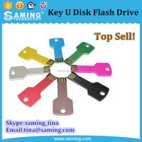 Top quality Metal Key 2.0 USB 2G 4G 8G Flash Drive Pen Drive Disk Memory Sticks key U Disk