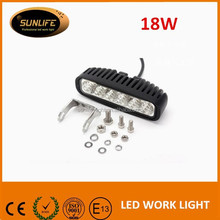 18W Auto parts LED Work Light Bar Off Road 4x4 Jeep Cabin, Boat, 4WD, SUV, Truck Tractor, Car, ATV UTV Work Light LED