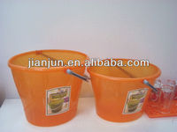 oval-shaped plastic water pail