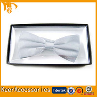 High quality popular style handmade plaid bowtie with box for men