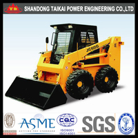 800kg 0.8tons TAIKAI skid wheel loader Fully hrdraulic 6 tons loader for mining and construction 6 tons loader with 3.3cbm bucke