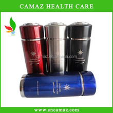 2015 new stainless steel Alkaline energy nano cup for healthy dringking water PH 8.5, silver, black,red,blue color Can OEM