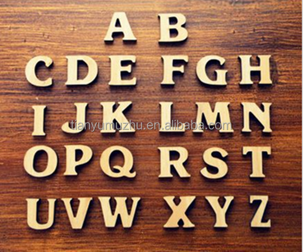 Custom wooden alphabet letters wholesale for Where to buy wooden letters cheap