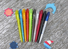 Transparent colored plastic stick promotional logo ballpoint pen satisfactory service CH-6586