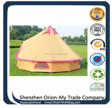Cotton Canvas Camping Tent spike top teepee tent Family Camping Tent