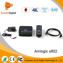 Android Set Top Box Amlogic S802 M8 2.0GHz Octo-core GPU android full hd media player, Set Top Box M8 Android XBMC Box