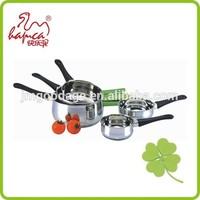 Good Quality 304 Set of 5 Stainless Steel Sauce Pan, Cooking pot Milk Pot, Coffee Pot