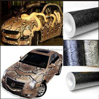 New Fashion Car Styling PVC Removeable Snake Skin Car Wrap Vinyl