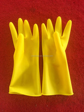 WJ145100g Long sleeve liquid proof industria latex rubber /Industrial working safety latex Gloves/Industry & Household Latex Glo