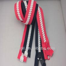 Fashion Y Teeth No.5 High Quality Swivel Head Slider Plastic Zipper plastic zipper pvc document bag