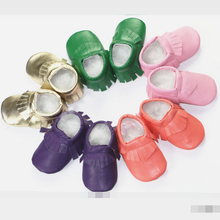 TSW3223 Latest 2015 infant toddler shoes fashion tassel baby leather shoes