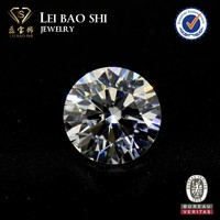 Fine jewelry Round Brilliant faceted gem stone Cubic Zirconia