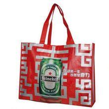 fashion silver laminated non-woven tote bag