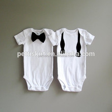 Designer baby clothes girls and boys short romper personality baby plain romper wholesale brother and sister matching outfit set