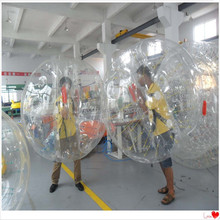 HOT!!! Fwulong high quality TPU 1.0mm inflatable bubble football/soccer