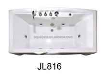 Corner shirted whirlpool massage bath tub bathroom with jets shower JL816