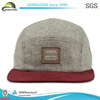 Leather Patch 5 Panel Suede Brim Wool Crown