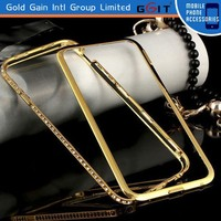 [GGIT] Aluminium Bumper Cell Phone Cover Case for iPhone 6,Metal Case for iPhone 6G with Diamond
