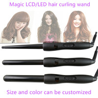 25/28/32mm 430F ceramic coated black motor hair styling twist tool hair curling wand as seen on tv