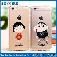 Lovely Crayon Shin-chan fancy mobile covers, cartoon character cell phone case for iPhone 6