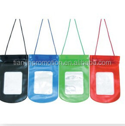 Cheap waterproof mobile phone pouch for swimming