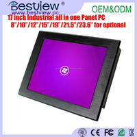 17 inch embedded panel All-In-One PC ,17 inch touch screen all in one pc