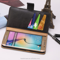 Custom logo wallet cell phone case cover for Samsung S6
