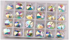 wholesale shiny 18mm ab color rivoli crystal fancy stone beads